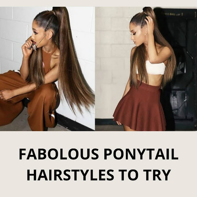 Fabulous ponytail hair style need to try